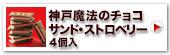 神戸魔法のチョコサンド・ストロベリー4個入