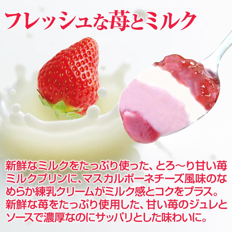 フレッシュな苺とミルク